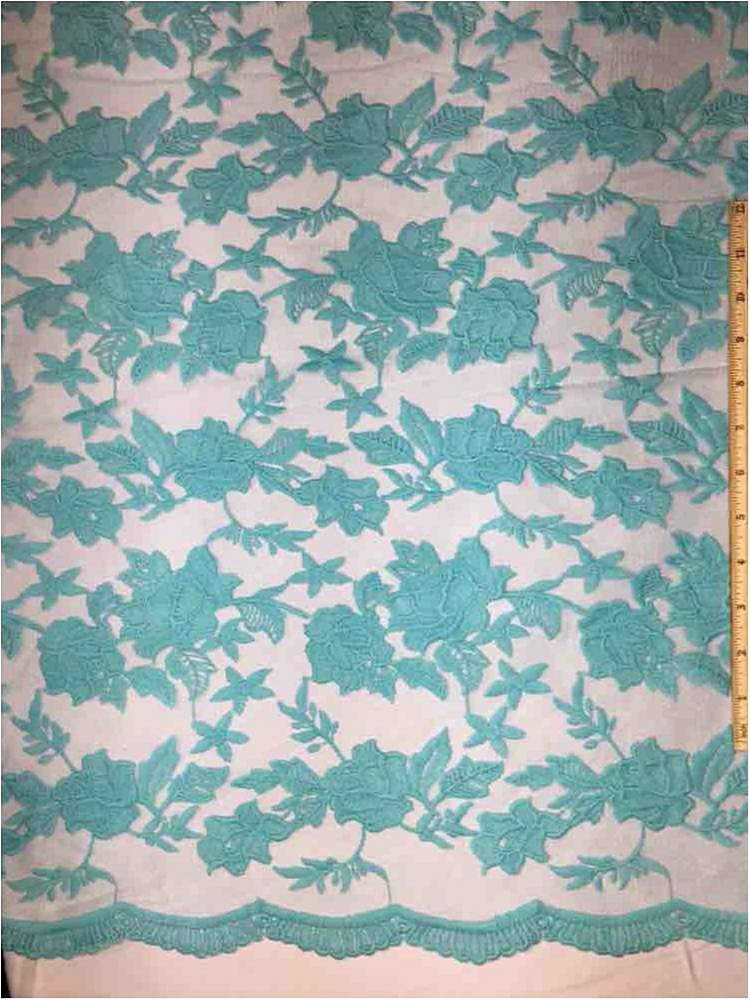 MEMB-0710D#4 / 08-TIFFANY / MESH WITH MILKY YARN EMBROIDERY ALL OVER