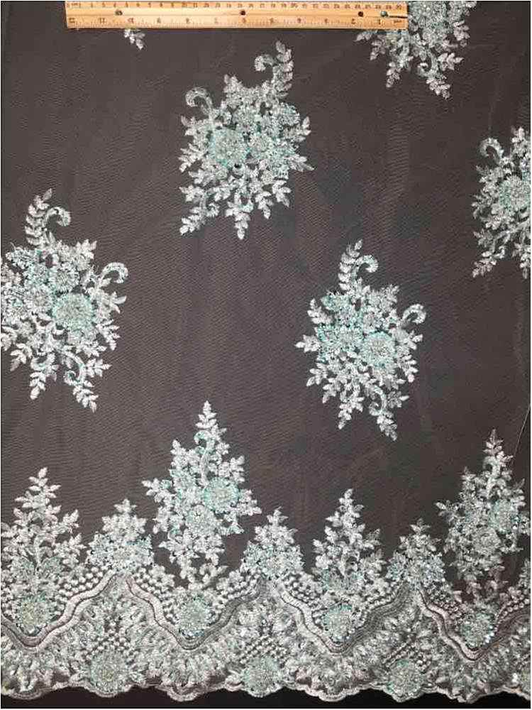 MEMB-JH-17-607 / 09-SAGE / KOREA TULLE HAND BEADED EMBROIDERY