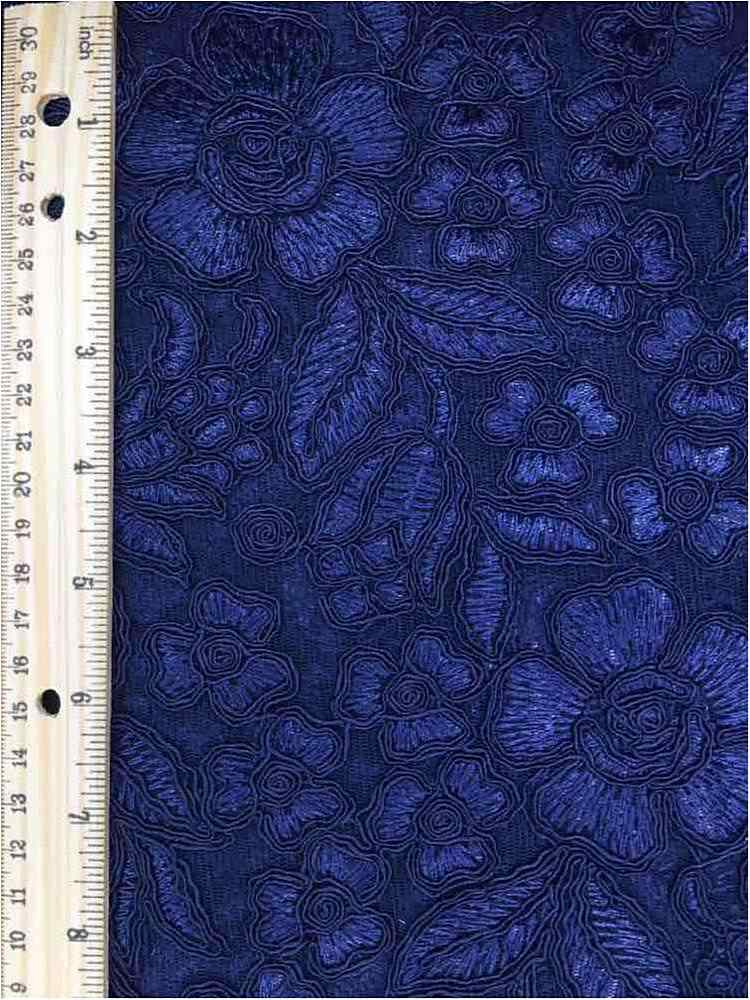 MEMB-102-6A / NAVY / MESH WITH EMBROIDERY