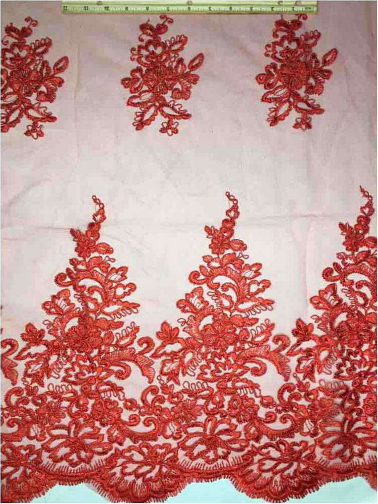 """EMB-0726182 15-RED CORDED MESH RED """"56"""""""""""" """"60"""""""""""""""