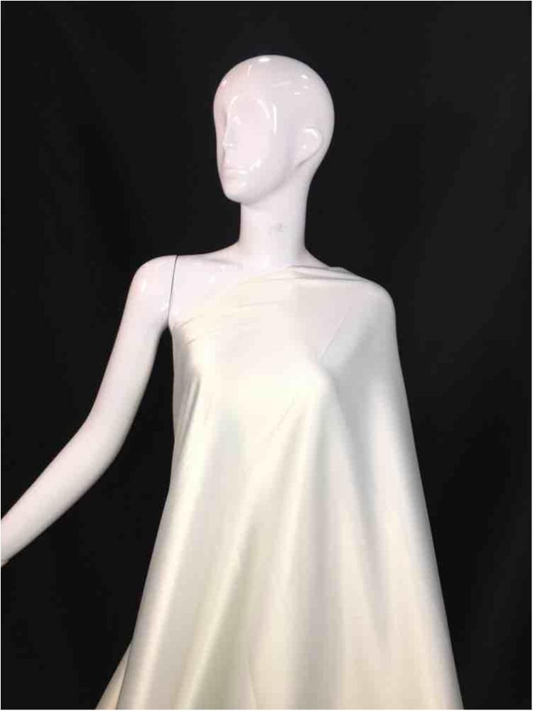 2031 / 03-IVORY / 97% Poly 3%SP STRETCH BRIDAL SATIN 360-370 GSM