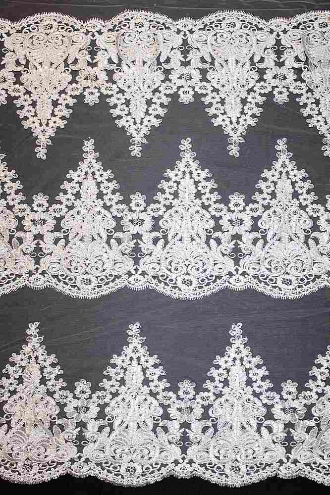 MEMB-YF-30385 / 04.CREAM / Embroidery Borders