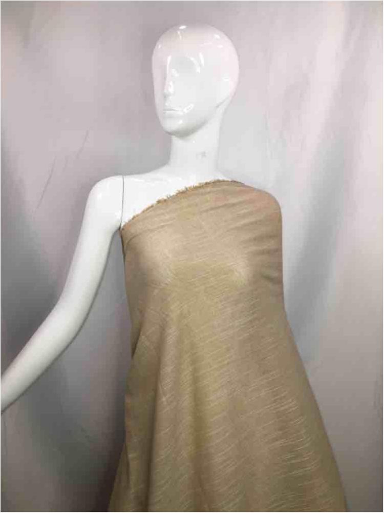 LINPR-1745 / 04.TAUPE / Polyster Linen Yarn Dye