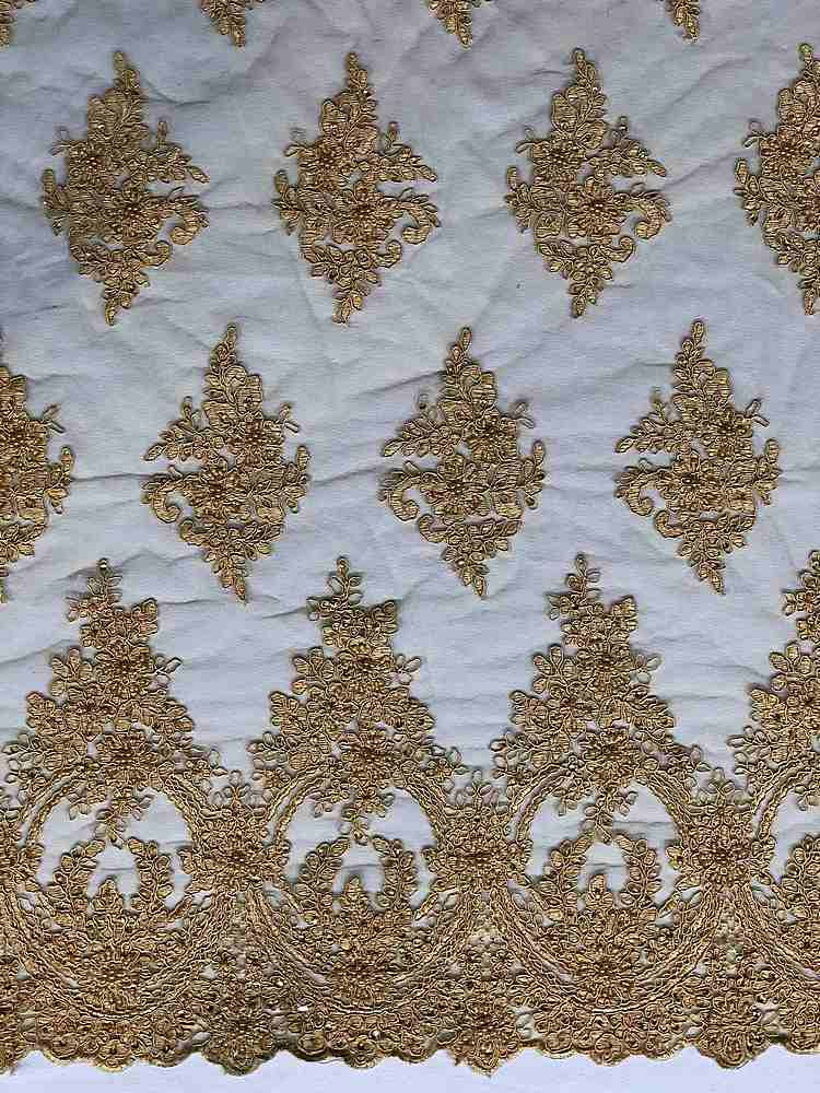 HEMB-FA18-112A / 03-GOLD / HAND BEAD EMBROIDERY WITH MESH