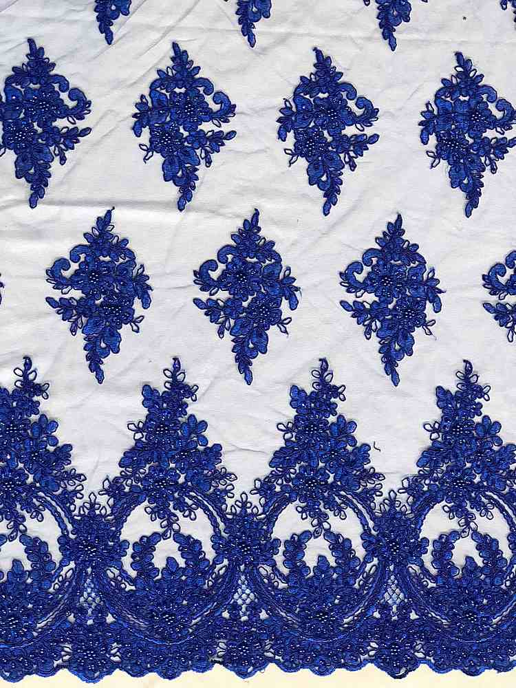HEMB-FA18-112A / 06-ROYAL / HAND BEAD EMBROIDERY WITH MESH