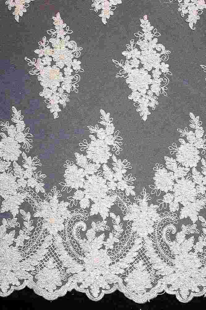 HEMB-FA18-112C / 02-SILVER / HAND BEAD EMBROIDERY WITH MESH