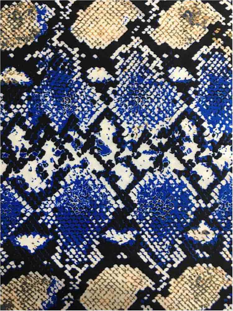 "TECNO-90032313 01-ROYAL TECNO PRINT ANIMAL BLUE ""56"""""" ""60"""""""