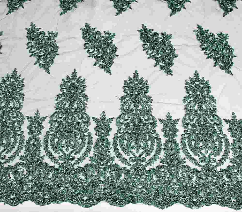 HEMB-JH-P19-981 / 47.HUNTER / Mesh With Hand Bead Embroidery All Over