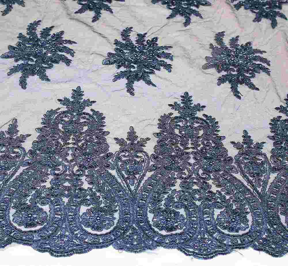 HEMB-JH-P18-97 / 20.NAVY / Mesh Witg Hand Bead Embroidery All  Over