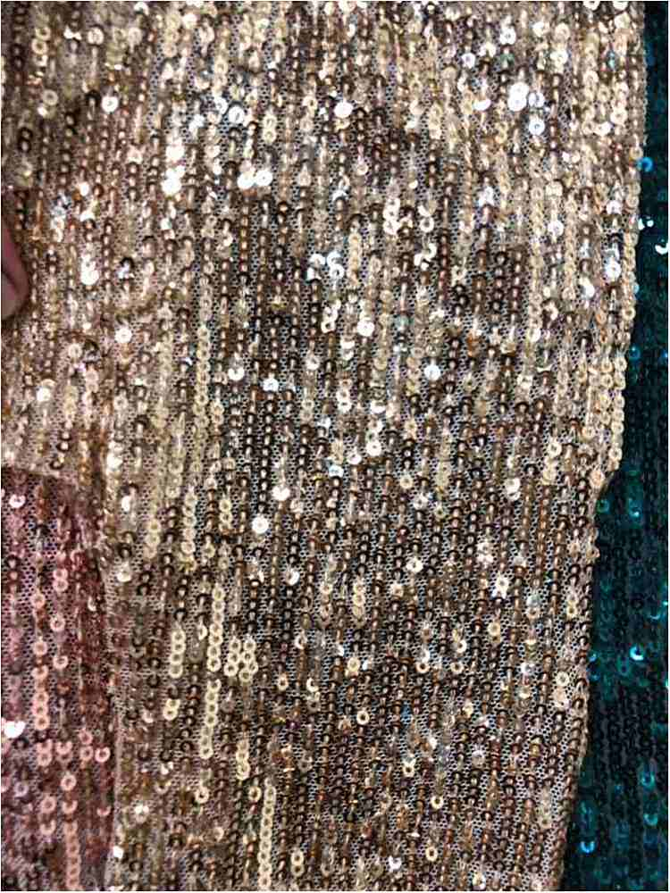 MSEQ-F191-12 / 05-GOLD / POLYESTER YARN SEQUIN EMBROIDERY