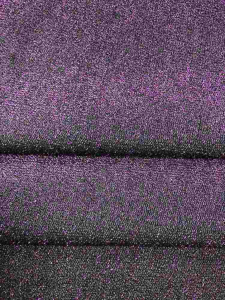MET-E0280 / PURPLE / Knit With Metal Yawn