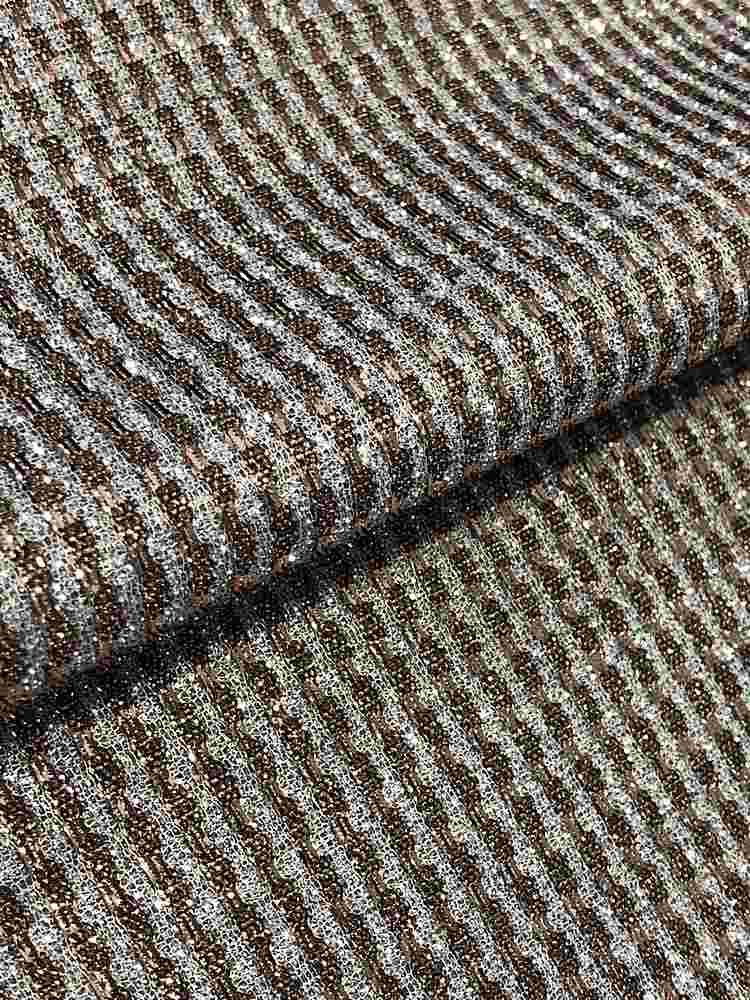 MET-B0047 / BRONZE SILVER / 96% Polyester 4% Spandex With Metallic Yarn