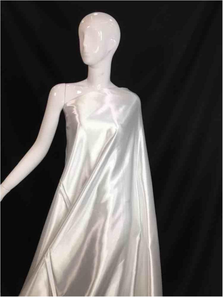 1041 / 01-WHITE / Shiny Bridal Satin 240/ Gsm