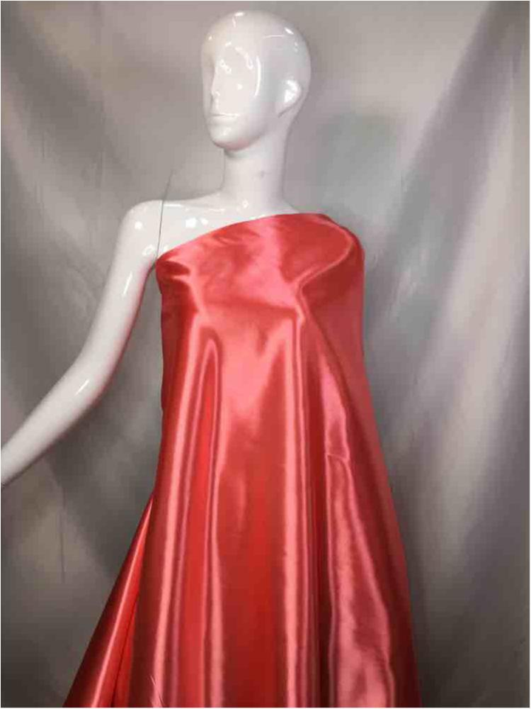 1041 / 66-CORAL / Shiny Bridal Satin 240/ Gsm