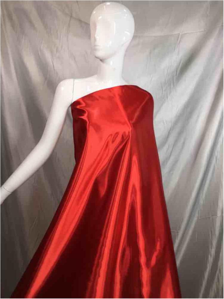1041 / 15-RED / Shiny Bridal Satin 240/ Gsm