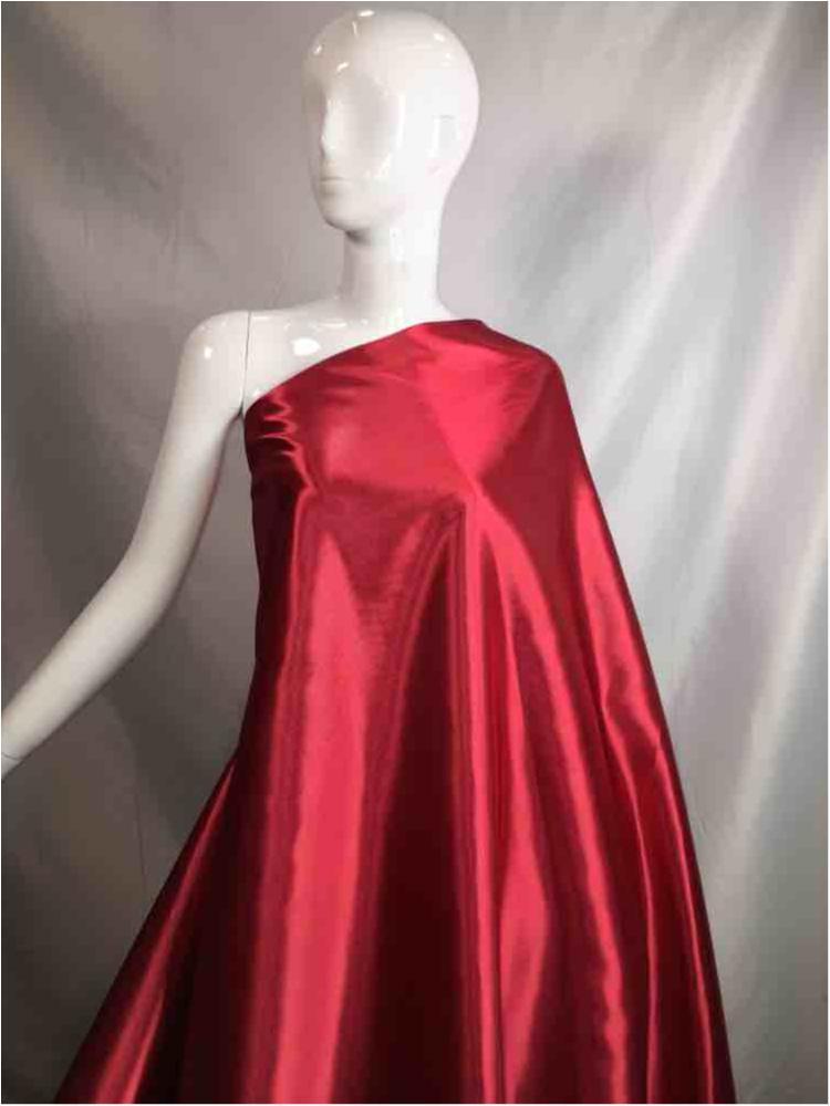 1041 / 48-DK.RED / Shiny Bridal Satin 240/ Gsm