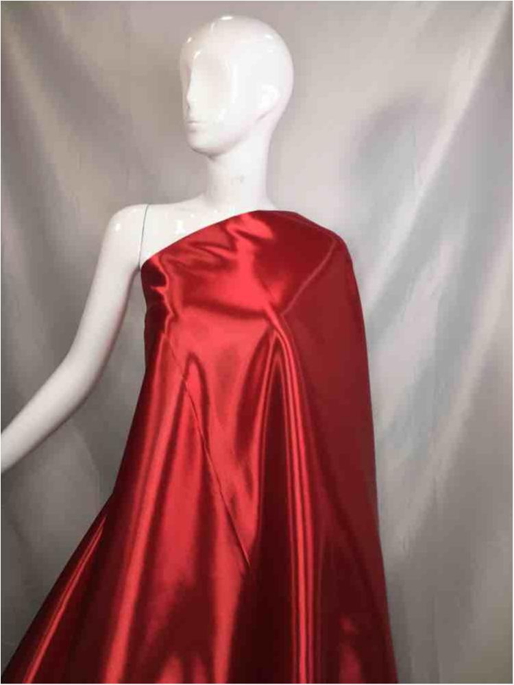 1041 / 19-RED / Shiny Bridal Satin 240/ Gsm