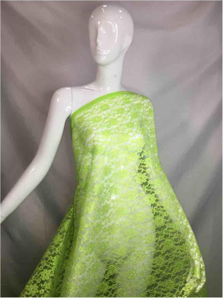 1200 / 12-LEMON         / Polyester Flower Lace Non Stretch
