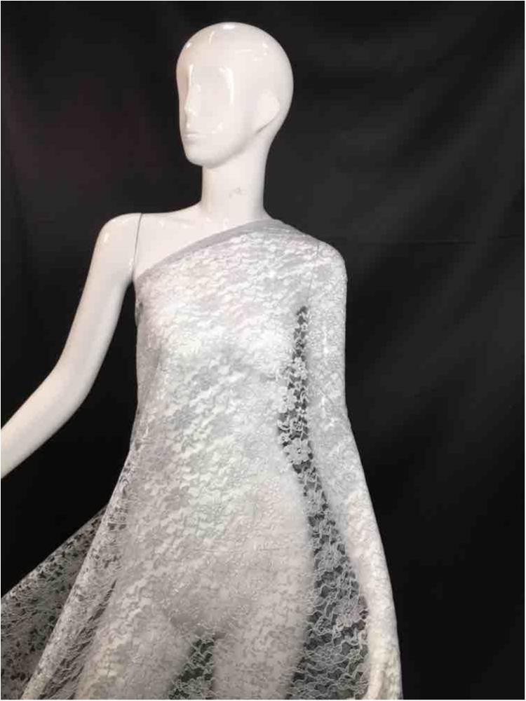1200 / 13-SILVER         / Polyester Flower Lace Non Stretch