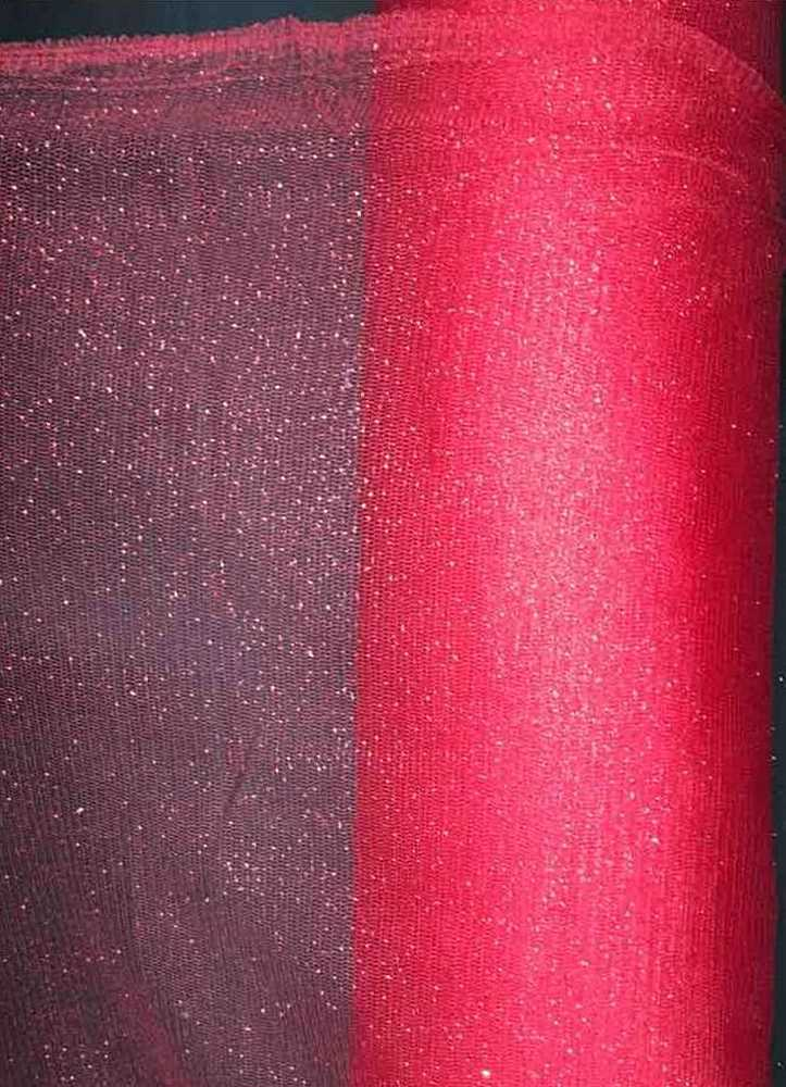 GM / 32-BRIGHT RED / GLITTER MESH