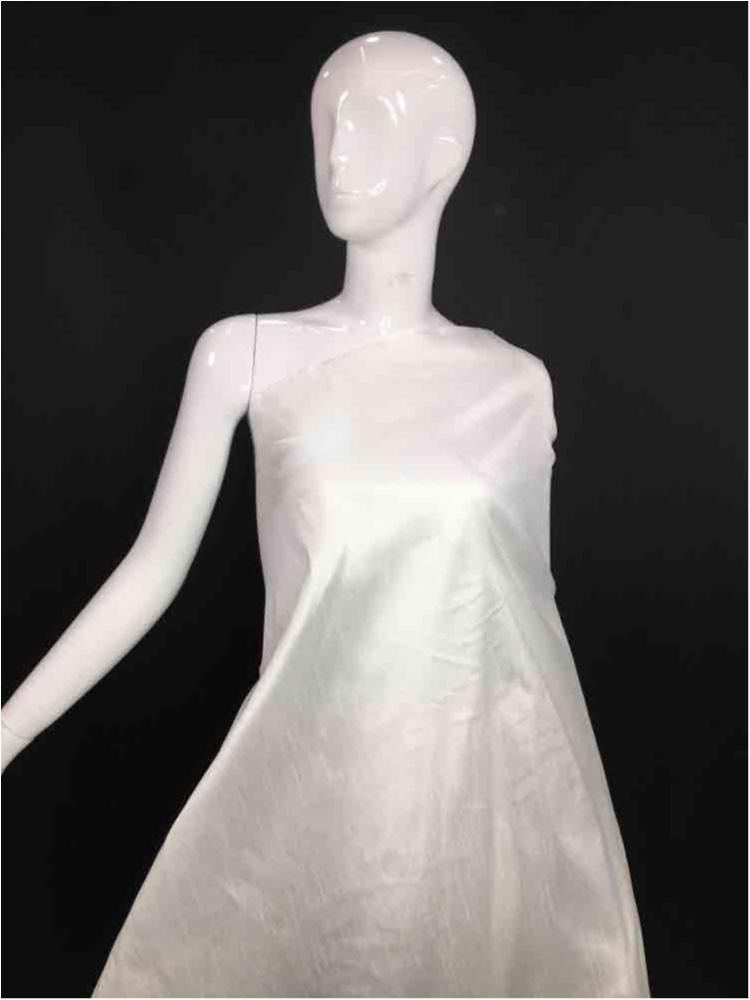 2125 / 02-OFF-WHITE / PLATINUM POLY SLUB DUPIONI 100 % Polyester