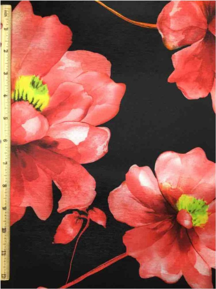 3300PR-8010306 / 01.BLACK         / POLY SPANDEX TAFFETA DIGITAL PRINT