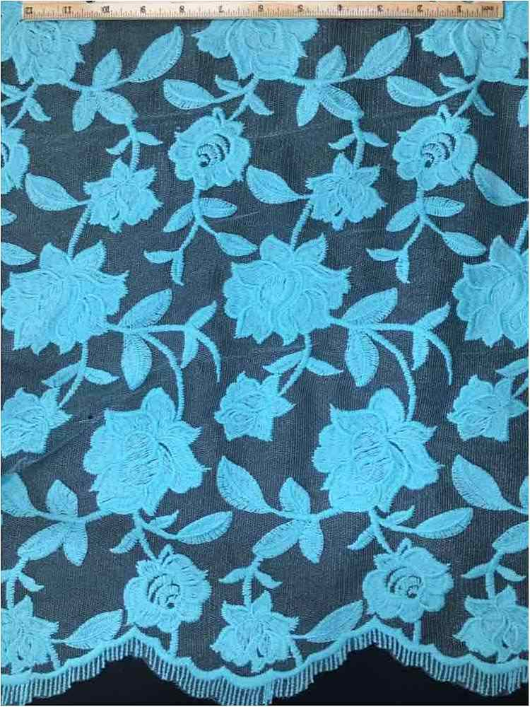 SEMB-0710D#3 / 08-TIFFANY           / MESH WITH MILKY YARN EMBROIDERY ALL OVER