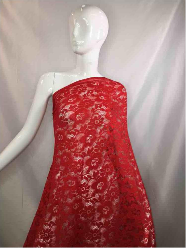 1158-586-3 / 15-RED / 95% NYLON 5%SPANDEX LACE 5 KILO/MT