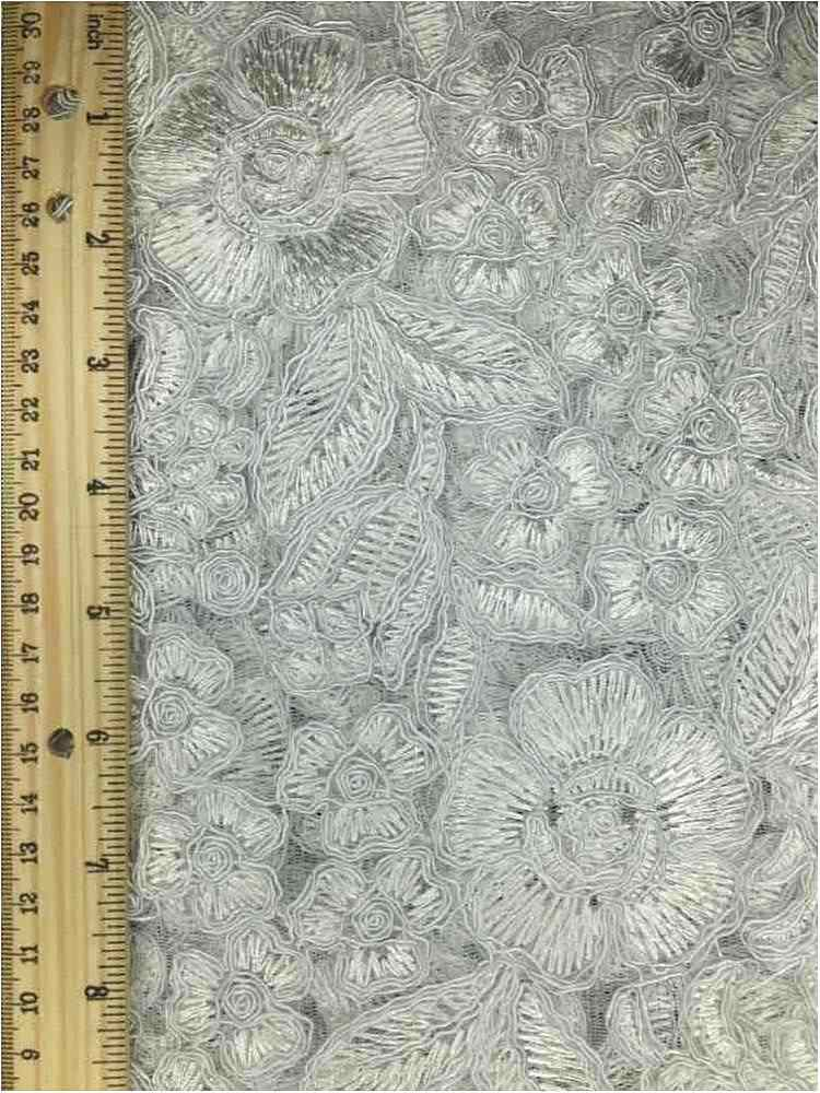 MEMB-102-6A / WHITE / MESH WITH EMBROIDERY