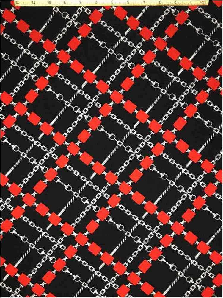 LVPR-80102306 / 04-RED         / POLY95% SPANDEX 5% LIVERPOOL PRINT 58/60
