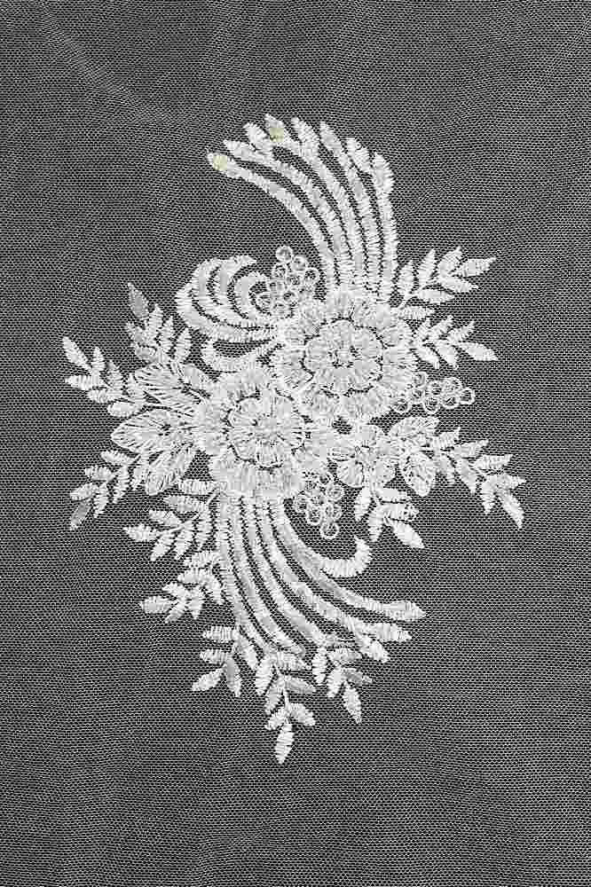 HEMB-5423D1 / 02-OFF-WHITE          / HAND BEADED EMBROIDERY