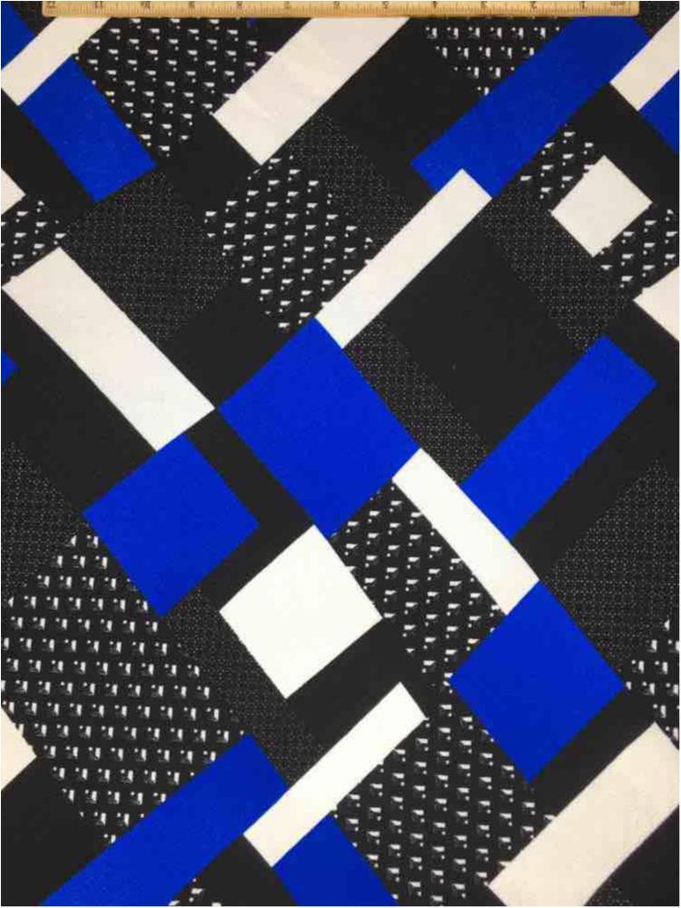LVPR-80110501 / 03.ROYAL / 5% Spandex 95% Polyester Liverpool Print