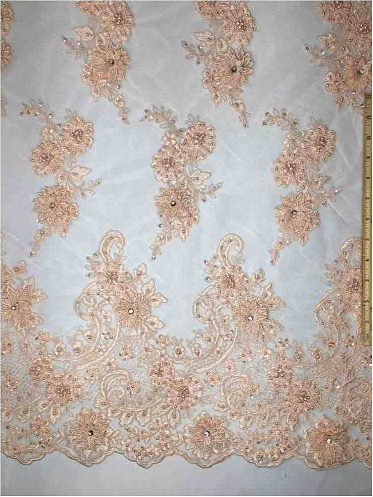 MEMB-JS7443 / 04-PEACH / HAND BEADED EMBROIDERY