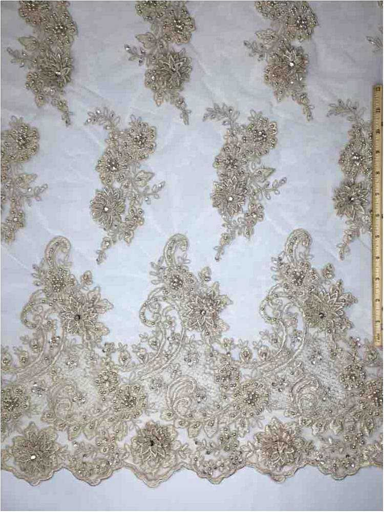 MEMB-JS7443 / 05-TAUPE / HAND BEADED EMBROIDERY