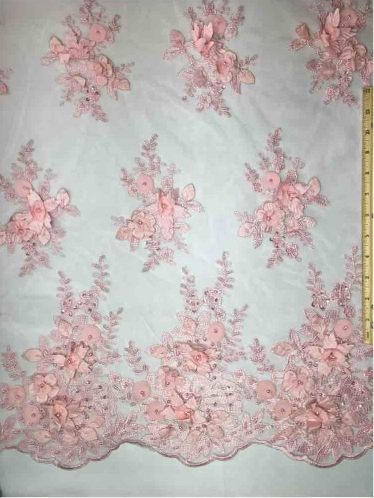 MEMB-A153681 / 06-PINK         / HAND BEADED EMBROIDERY