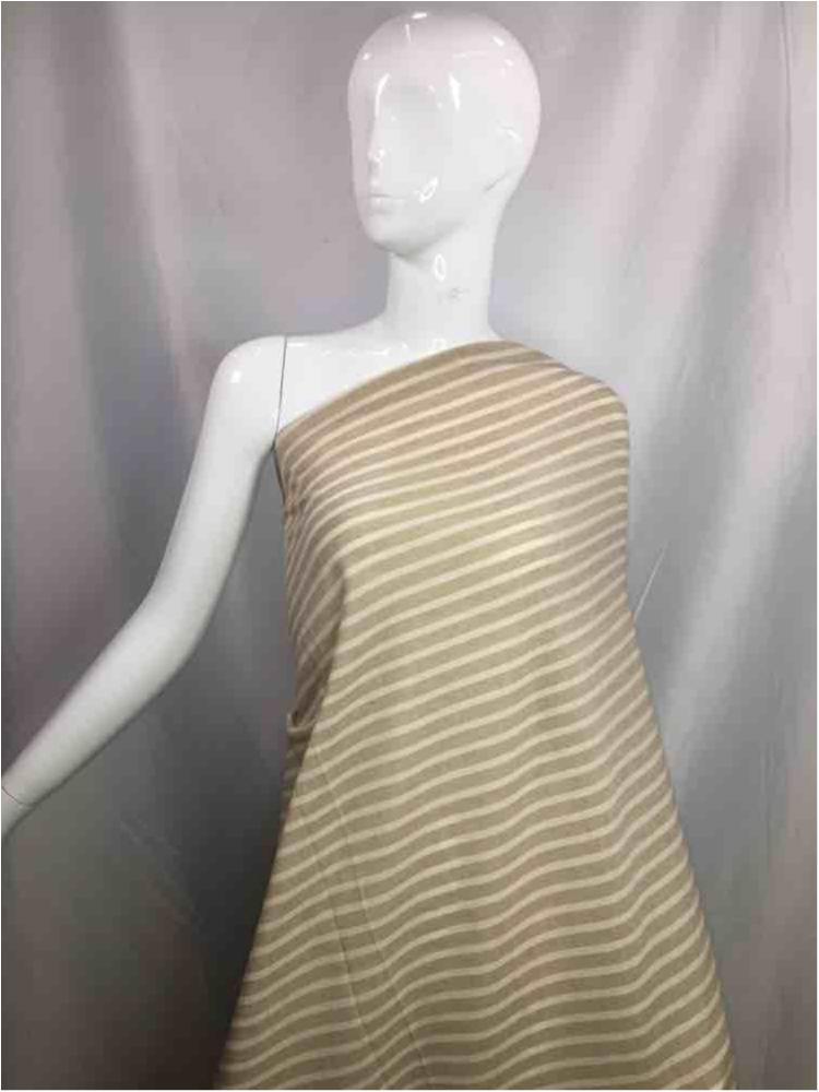 LINPR-1020 / 09.TAUPE            / Polyster Linen Yarn Dye