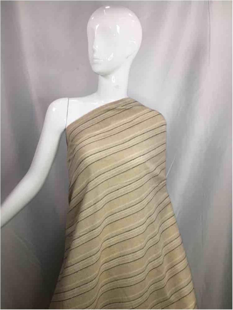LINPR-1822 / 04.TAUPE            / Polyster Linen Yarn Dye