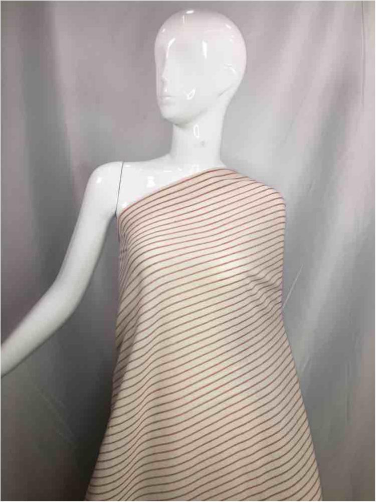 LINPR-LT101 / 10.BURGUNDY / Polyster Linen Yarn Dye