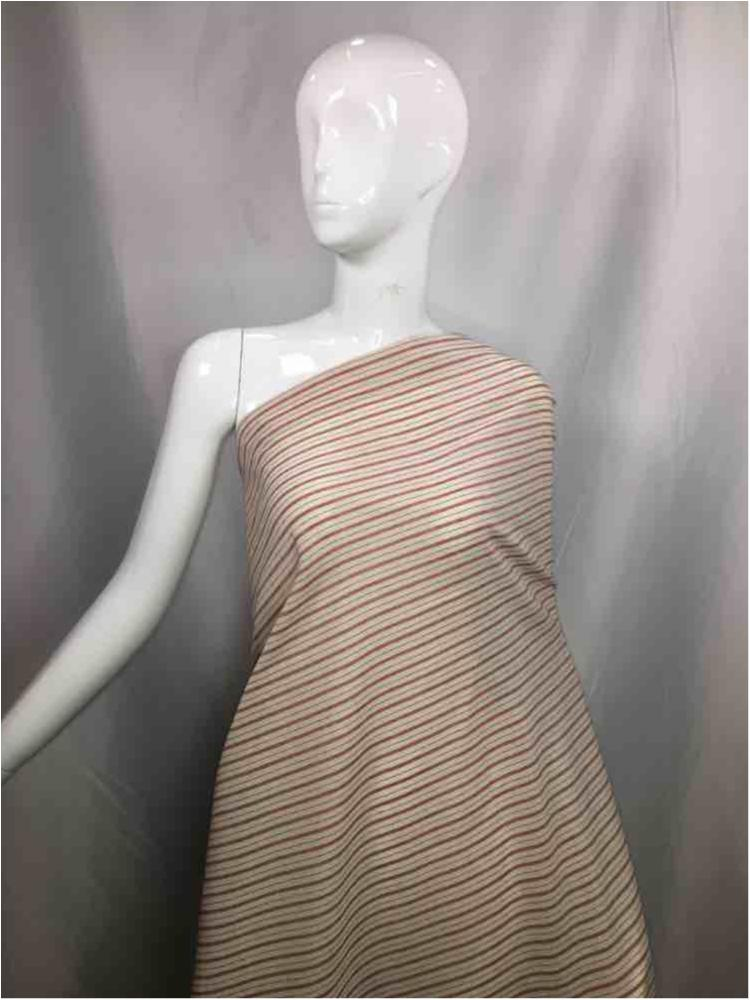 LINPR-1823 / 01.BURGUNDY / Polyster Linen Yarn Dye