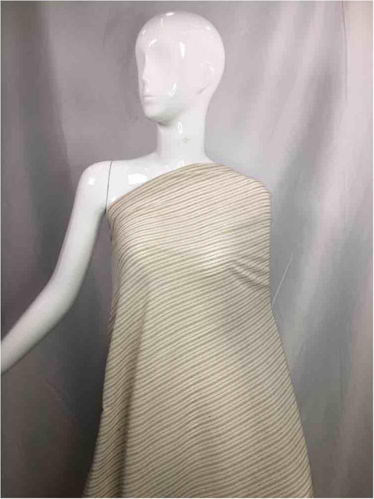 LINPR-1823 / 03.TAUPE            / Polyster Linen Yarn Dye