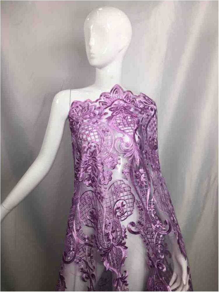 MEMB-5773D1 / 04-LILAC         / MESH EMBROIDERY