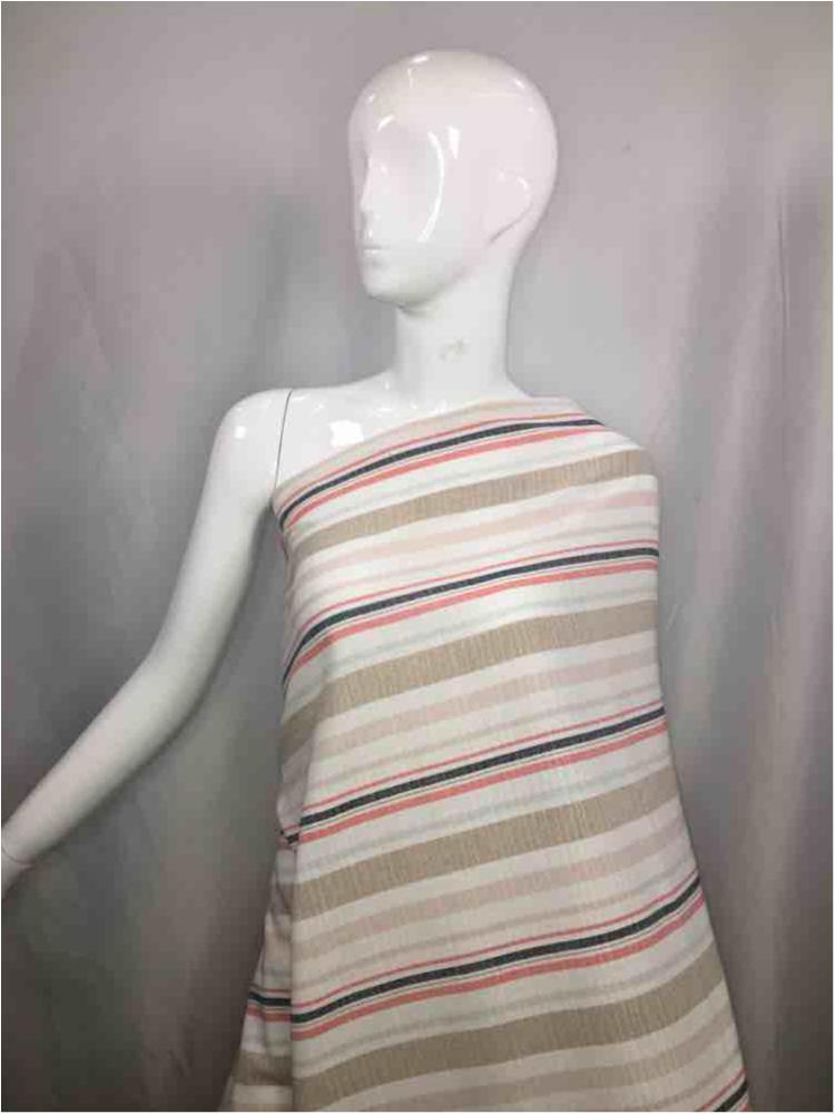LINPR-0307D1 / 01-TAUPE / Polyster Linen Yarn Dye