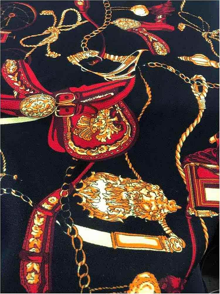 LVPR-90030101 / 01-BLACK / Poly 95% Sapandex 5% Liverpool Print